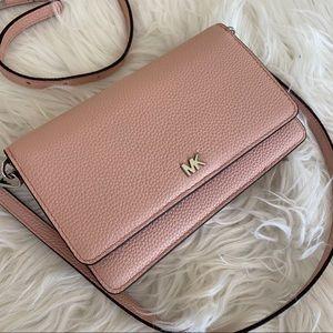 Michael Kors pebble leather wallet crossbody bag